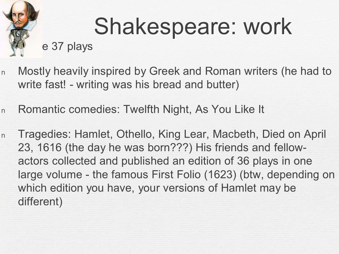 Intro to hamlet prepared by m teref ppt video online download 7 shakespeare biocorpaavc