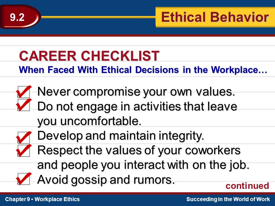 what happens when ethical behavior is compromised The purpose of ethics and the healthcare professional is to provide healthcare professionals with information about ethics, ethical principles, and codes of ethics, and to explore the ethical  therapy that will prolong life but compromise the quality of life  ethical behavior.