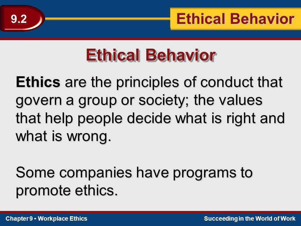 employees right as ethical principles in The field of ethics is traditionally divided into three areas: 1) meta-ethics, which deals with the nature of the right or the good, as well as the nature and justification of ethical claims 2) normative ethics, which deals with the standards and principles used to determine whether something is right or good 3) applied ethics, which deals.