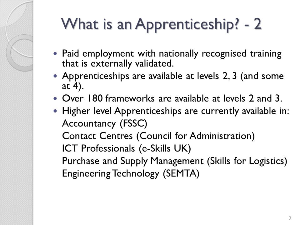 What is an Apprenticeship - 2