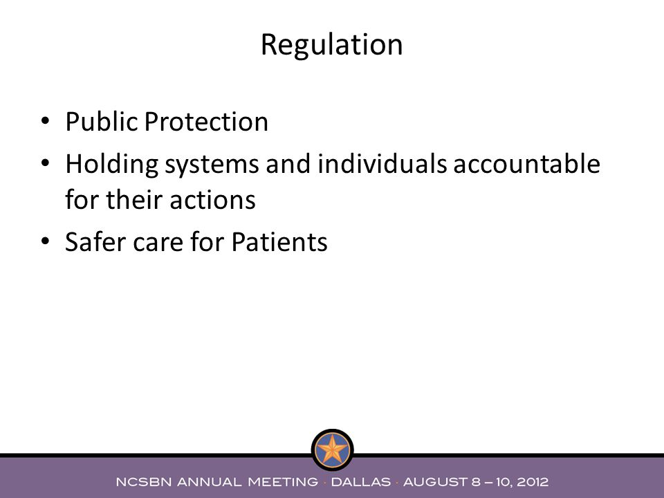 Regulation Public Protection