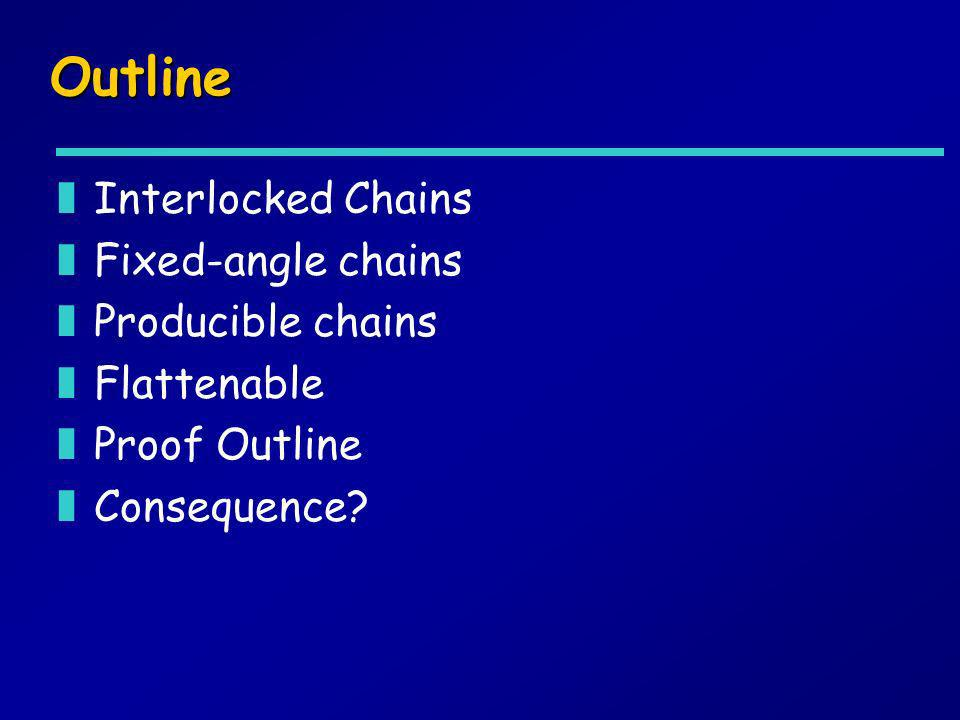 Outline Interlocked Chains Fixed-angle chains Producible chains