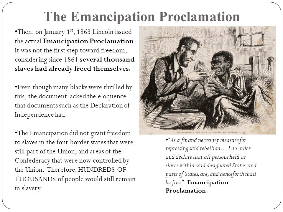 emancipation proclamation research paper