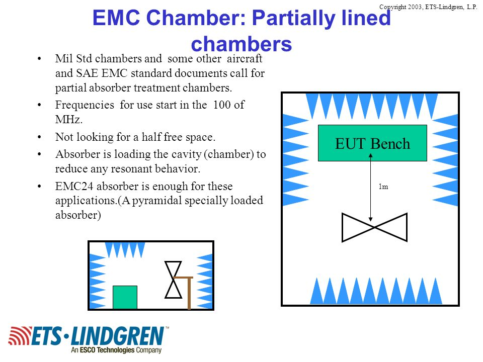 EMC Chamber: Partially lined chambers