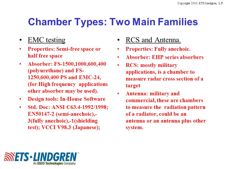 Chamber Types: Two Main Families