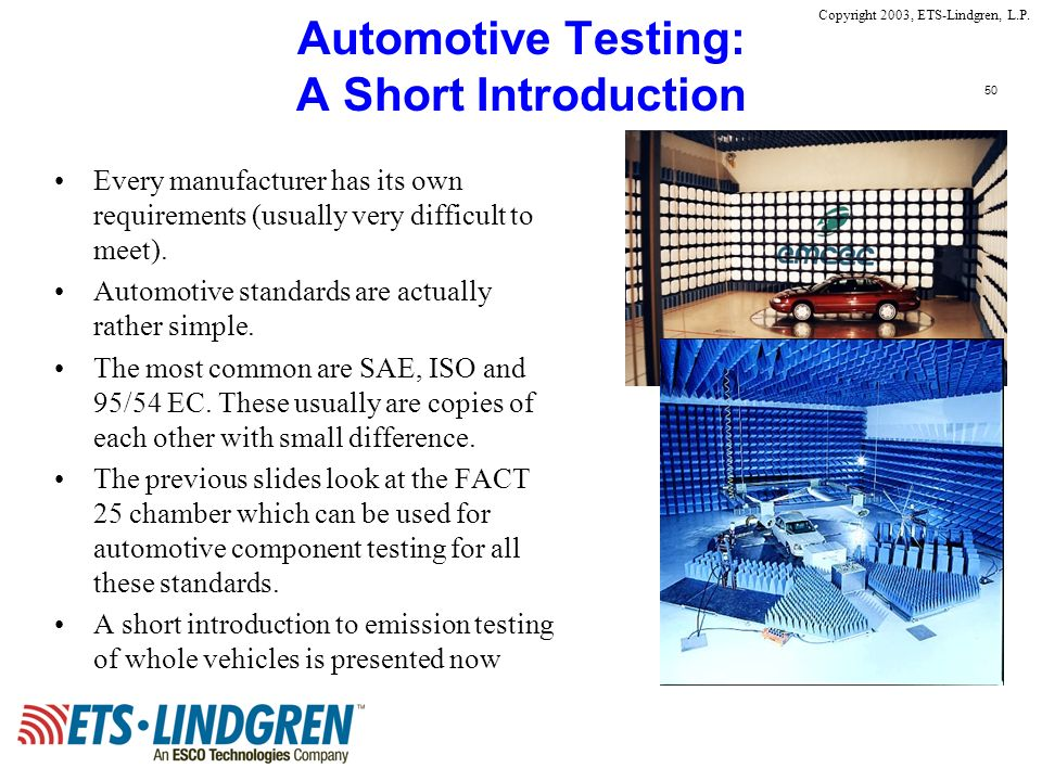 Automotive Testing: A Short Introduction