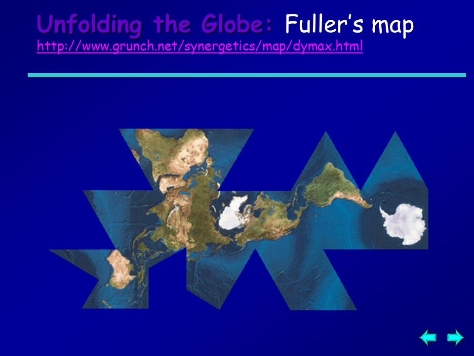 Unfolding the Globe: Fuller's map   grunch