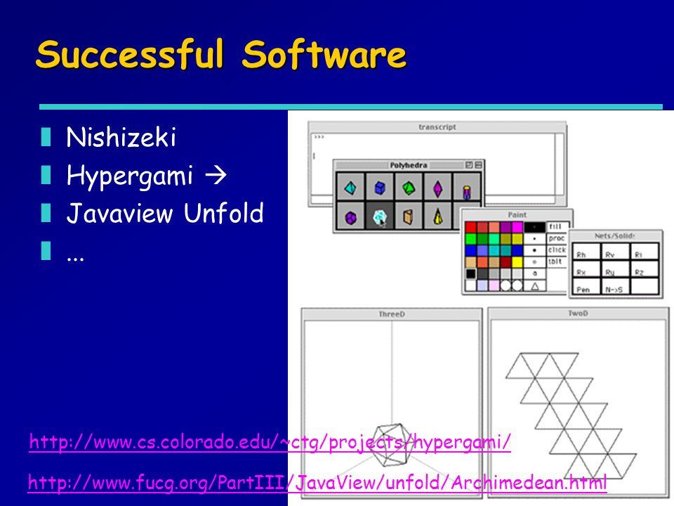 Successful Software Nishizeki Hypergami  Javaview Unfold ...