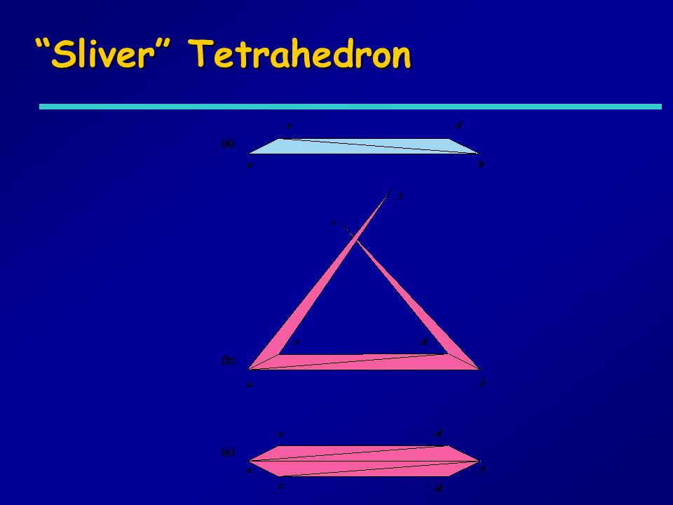 Sliver Tetrahedron