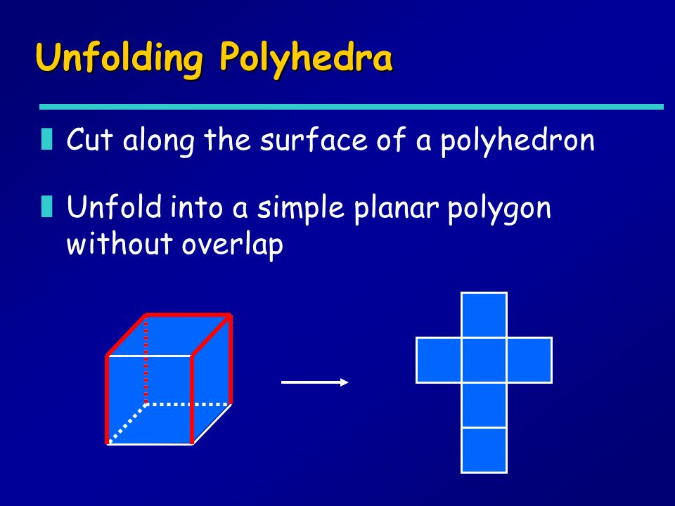 Unfolding Polyhedra Cut along the surface of a polyhedron