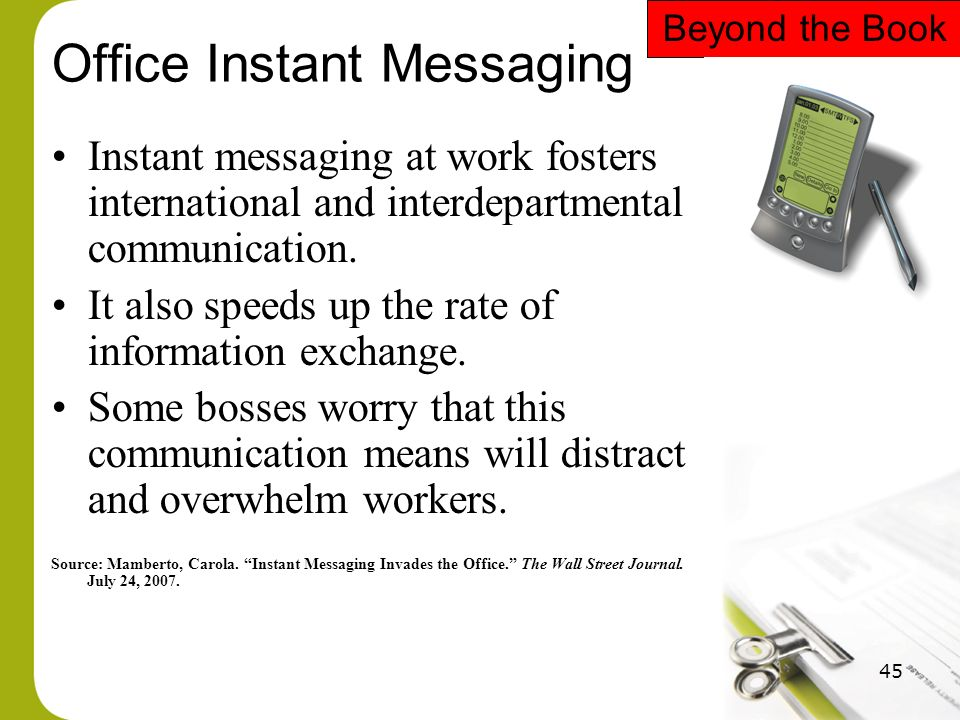 Instant Message Work : Chapter managing communication ppt download