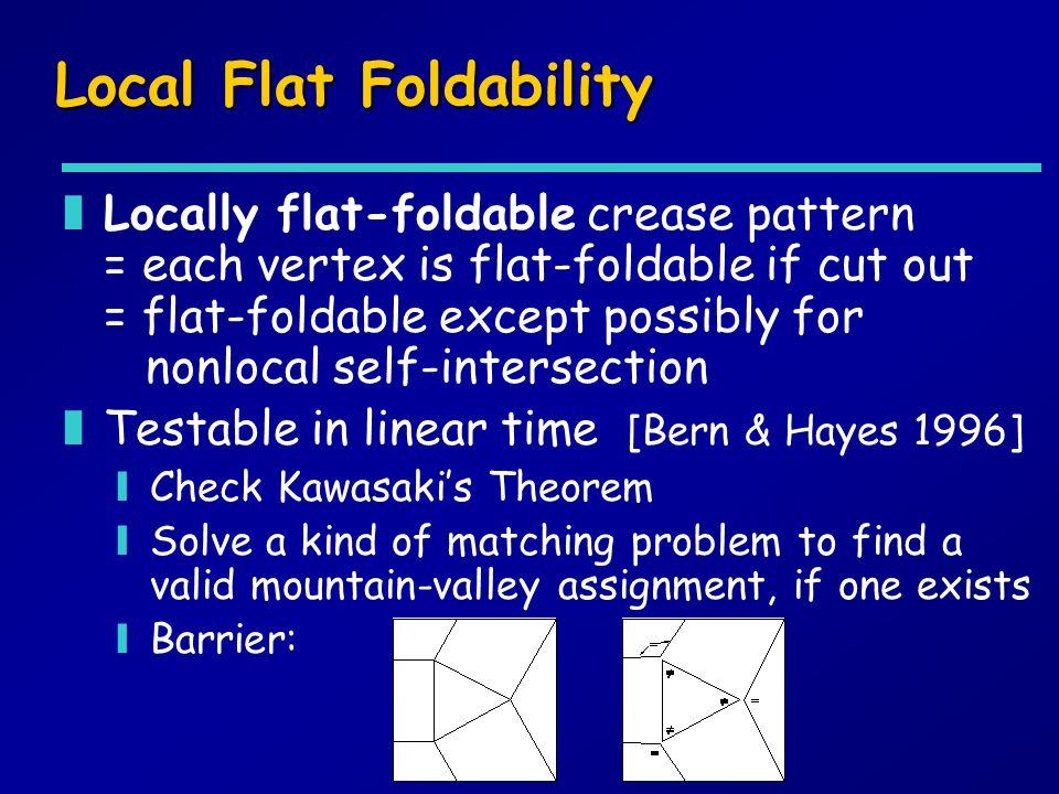 Local Flat Foldability