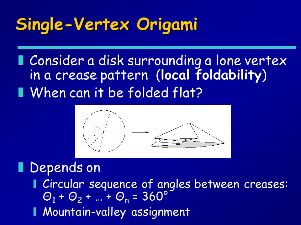 Single-Vertex Origami