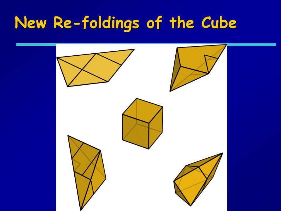 New Re-foldings of the Cube