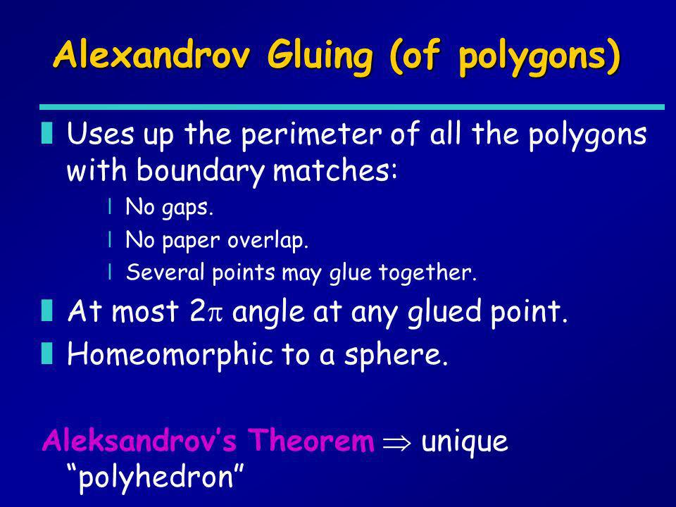 Alexandrov Gluing (of polygons)
