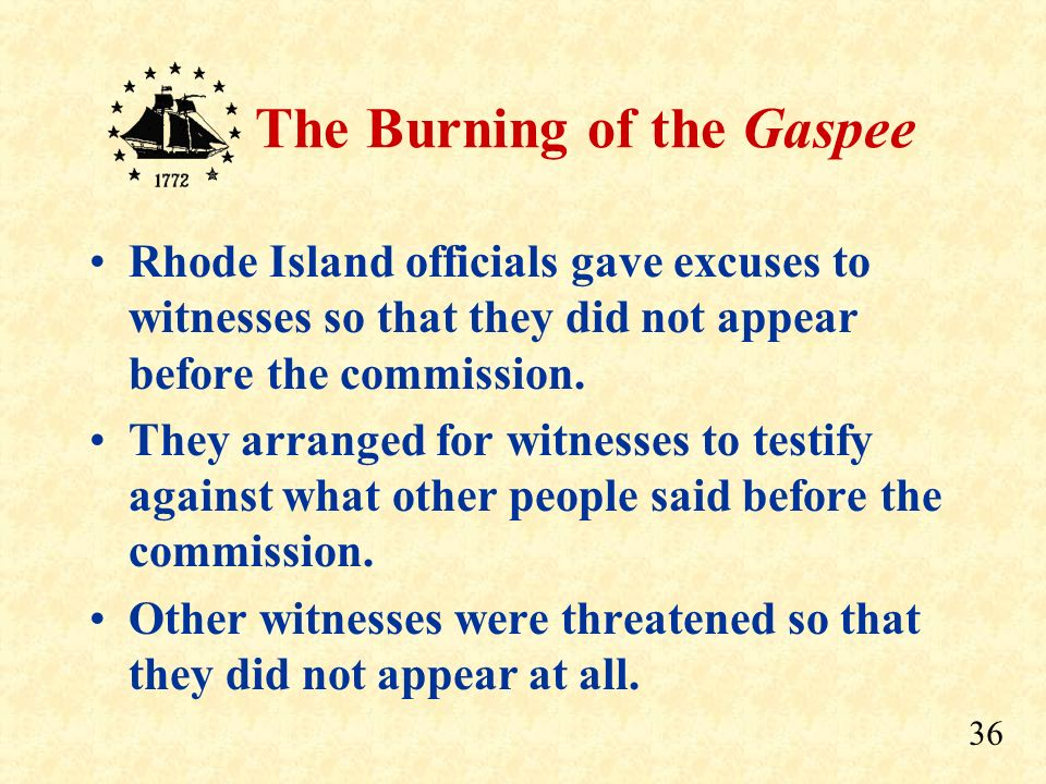 Rhode Island officials gave excuses to witnesses so that they did not appear before the commission.