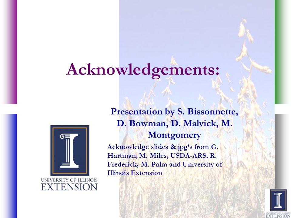 Presentation by S. Bissonnette, D. Bowman, D. Malvick, M. Montgomery