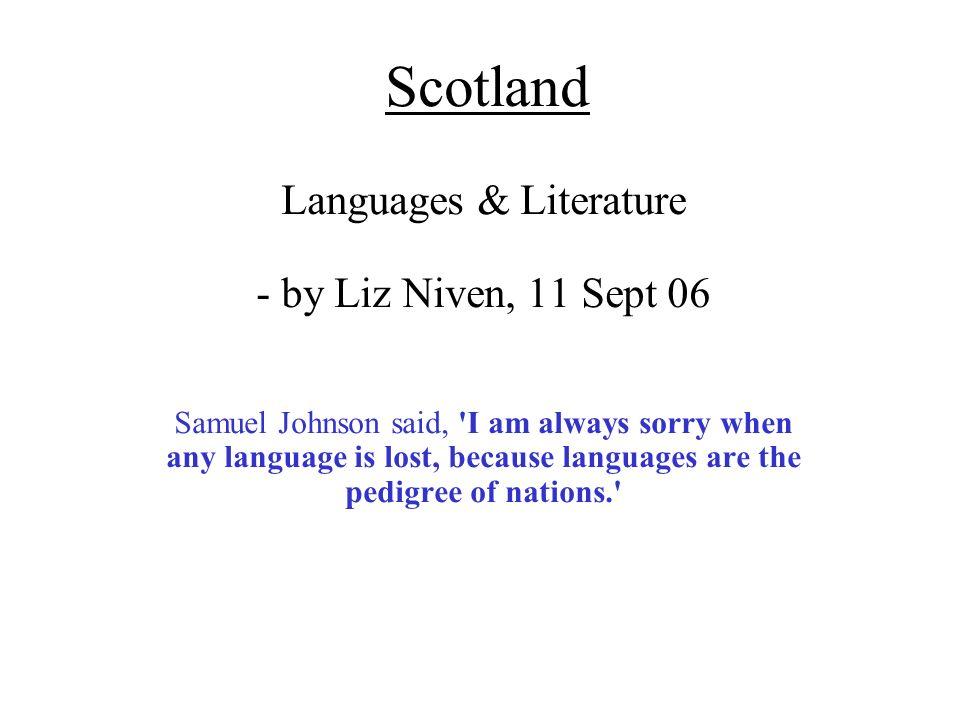 Languages & Literature - by Liz Niven, 11 Sept 06