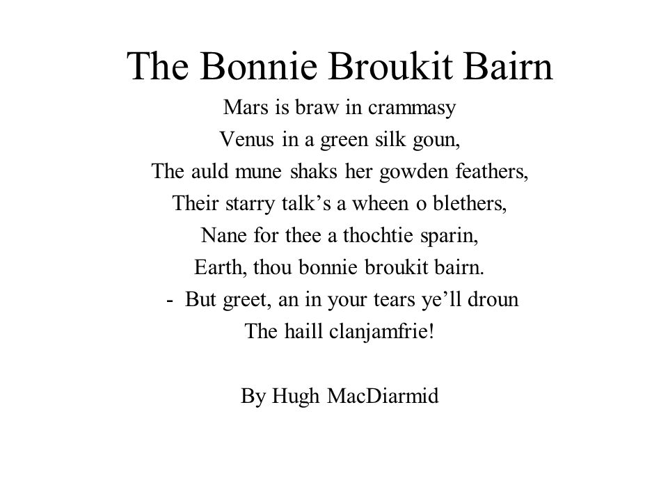 The Bonnie Broukit Bairn