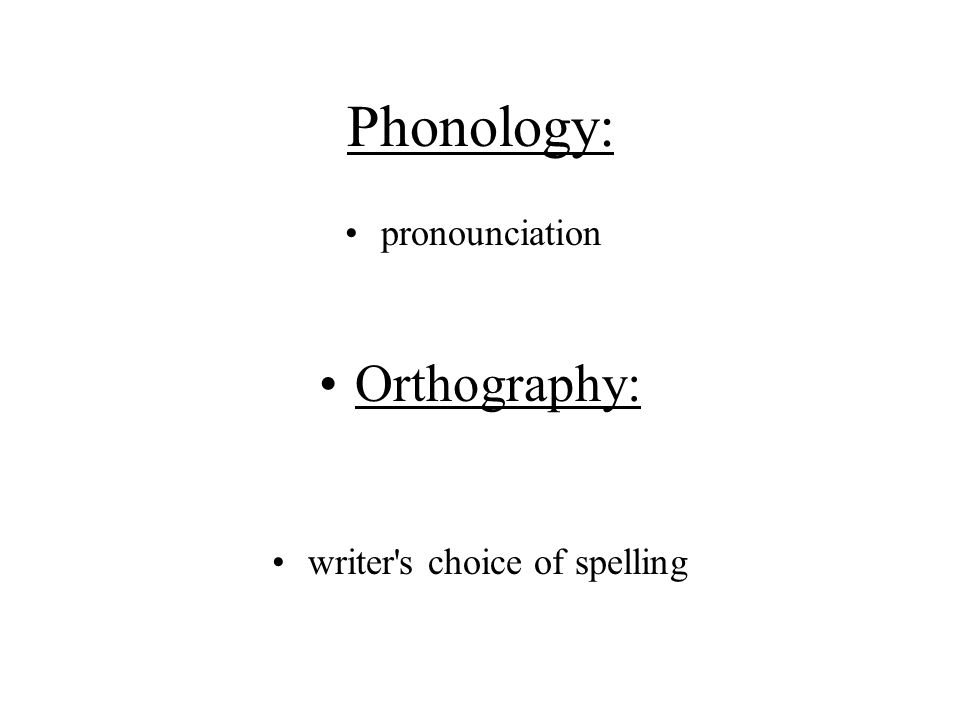 writer s choice of spelling