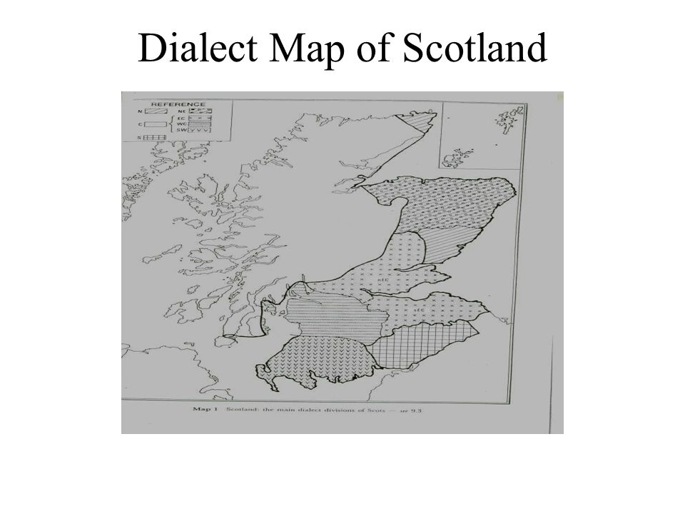 Dialect Map of Scotland