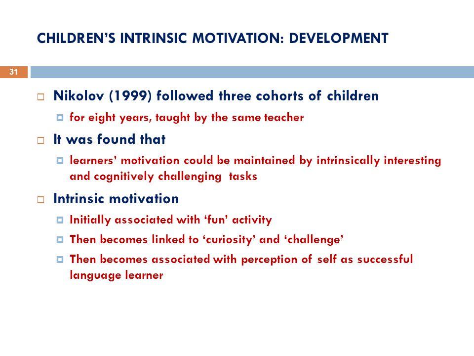 CHILDREN'S INTRINSIC MOTIVATION: DEVELOPMENT