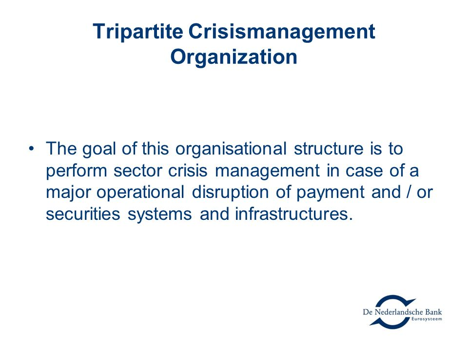 Tripartite Crisismanagement Organization