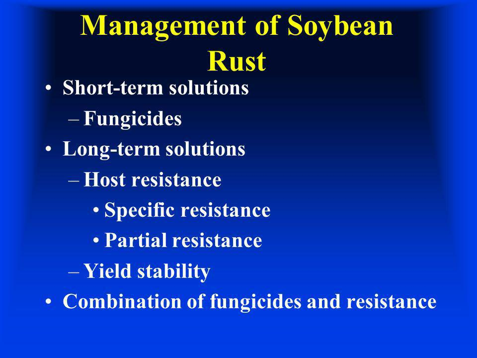 Management of Soybean Rust