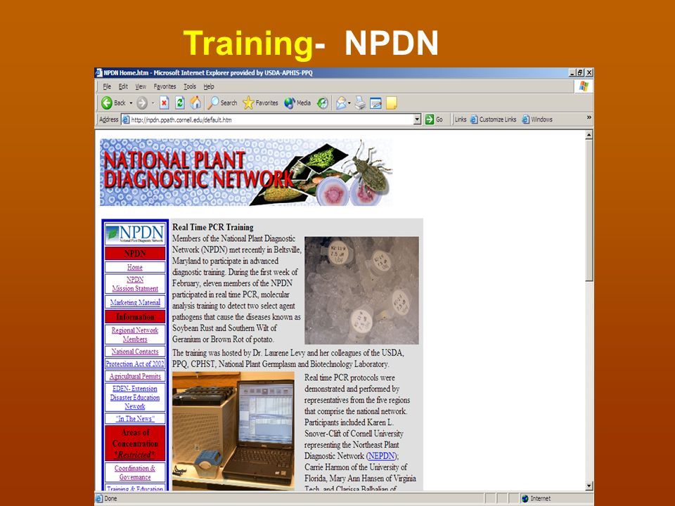 Training- NPDN