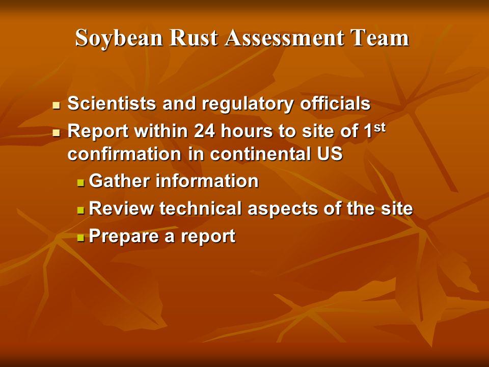 Soybean Rust Assessment Team