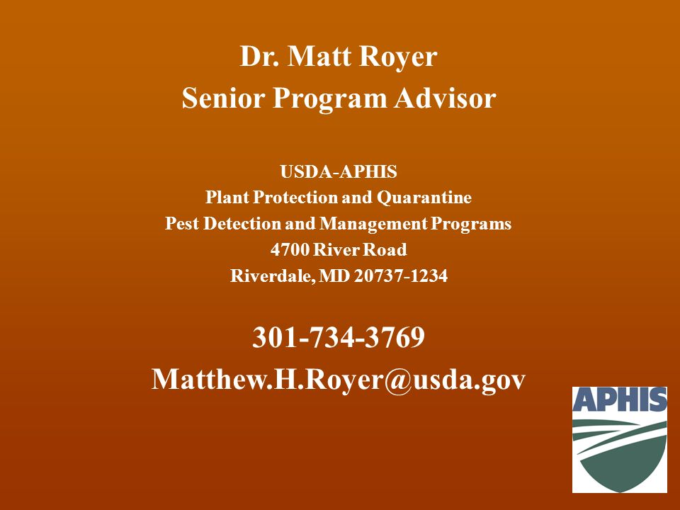 Senior Program Advisor