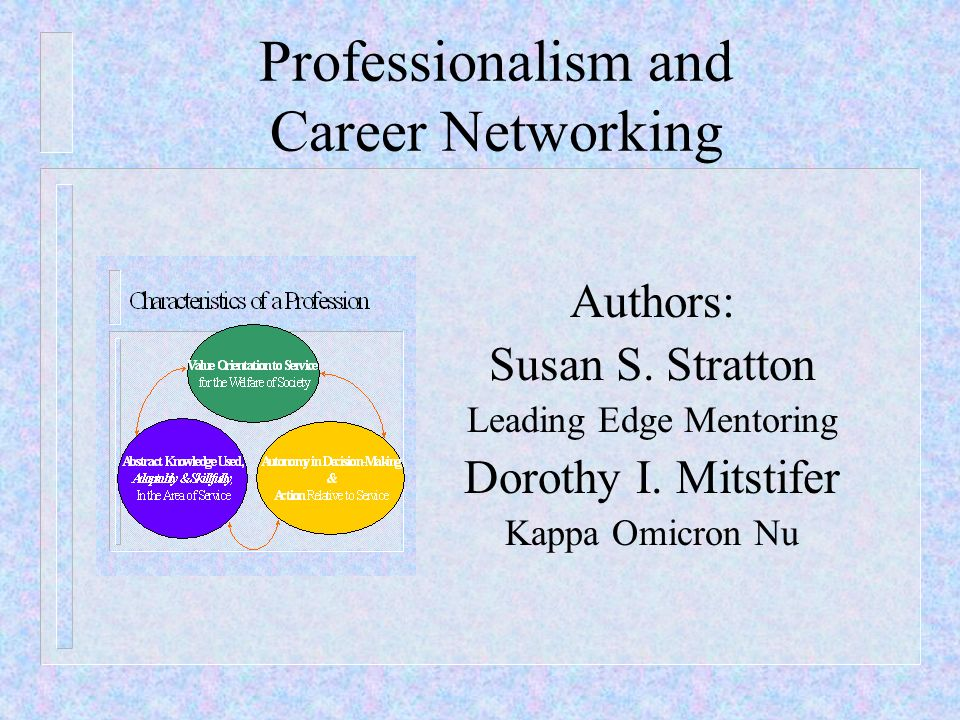 Professionalism and Career Networking