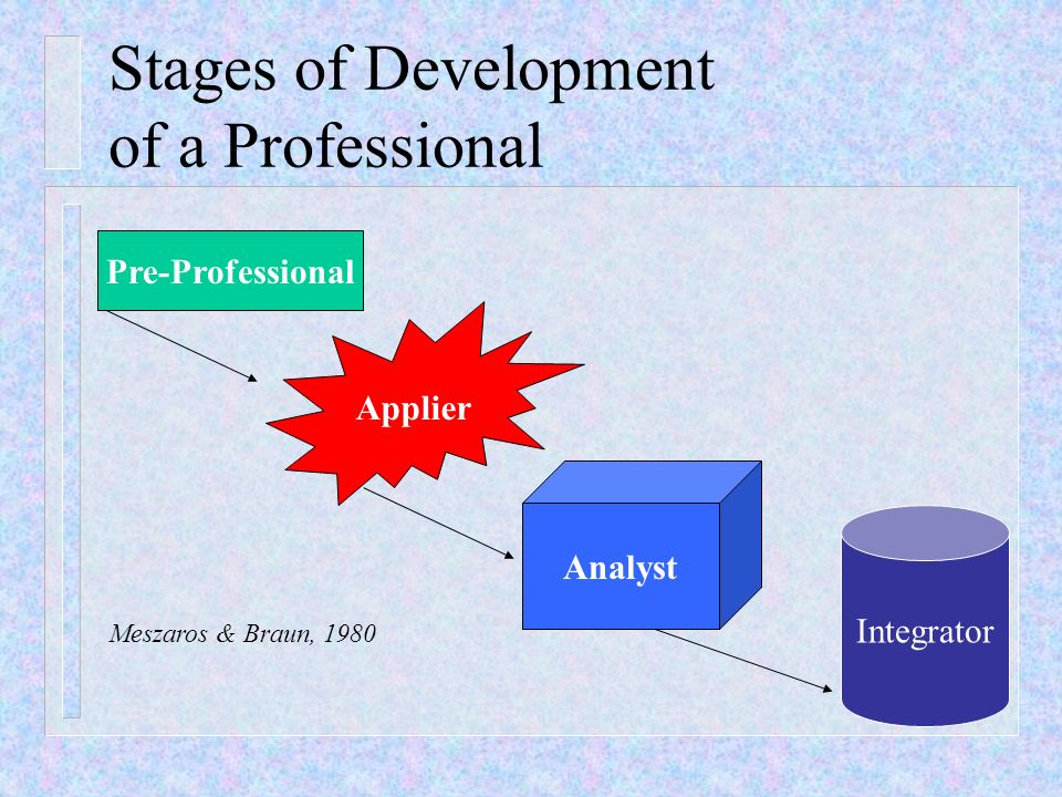 Stages of Development of a Professional