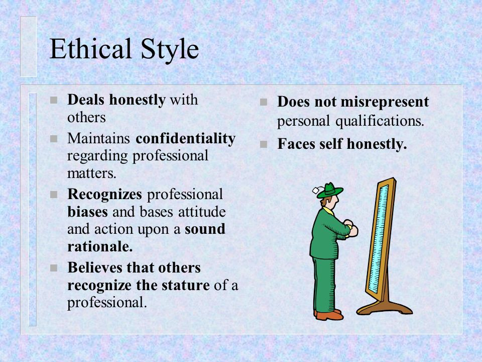 Ethical Style Deals honestly with others