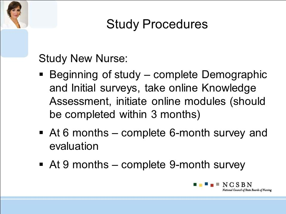 Study Procedures Study New Nurse: