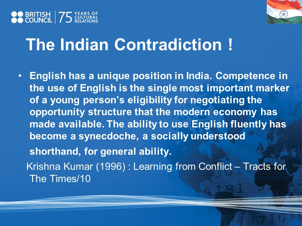 The Indian Contradiction !