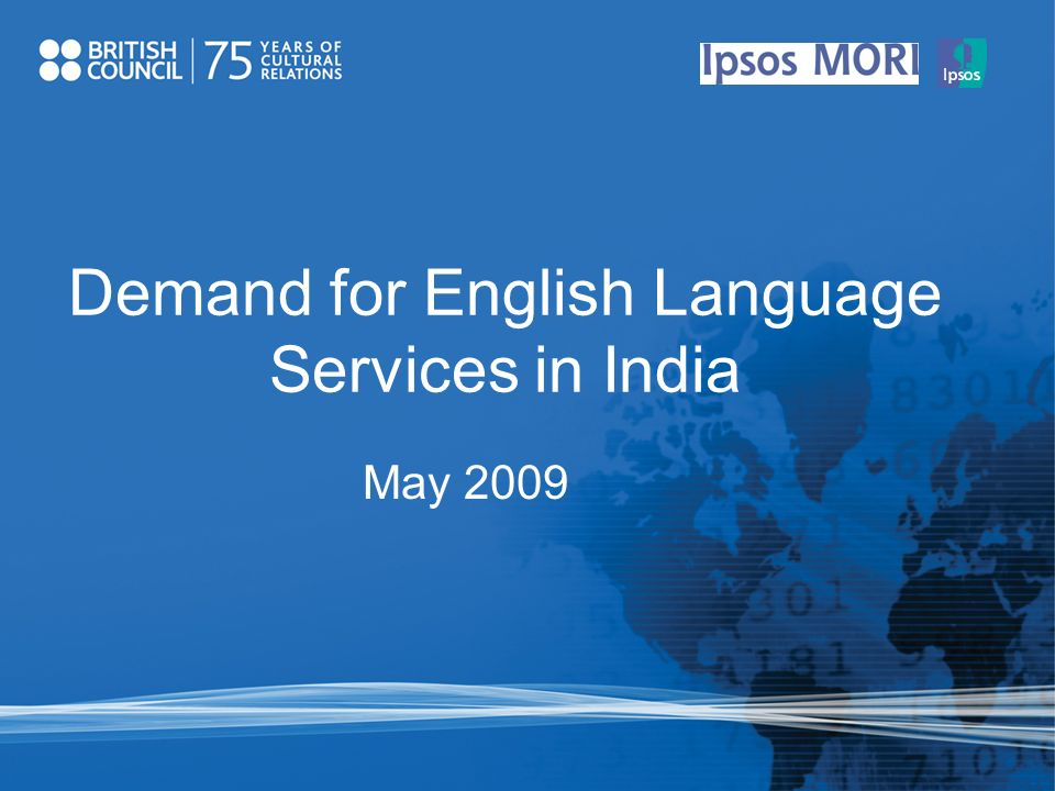 Demand for English Language Services in India