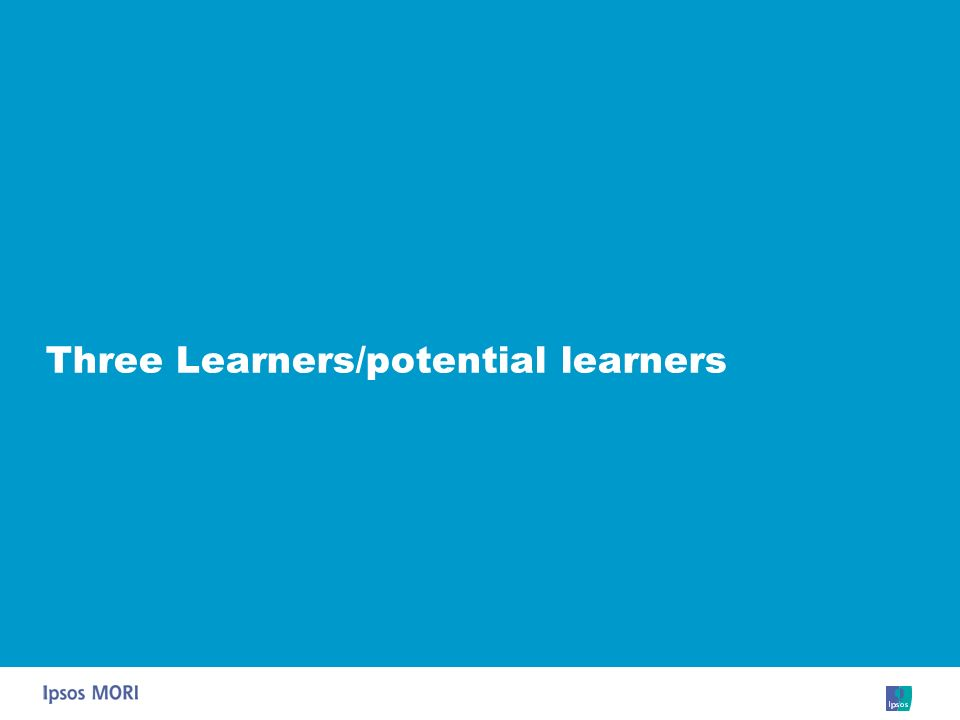 Three Learners/potential learners