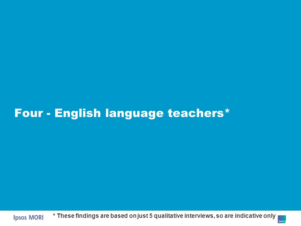 Four - English language teachers*