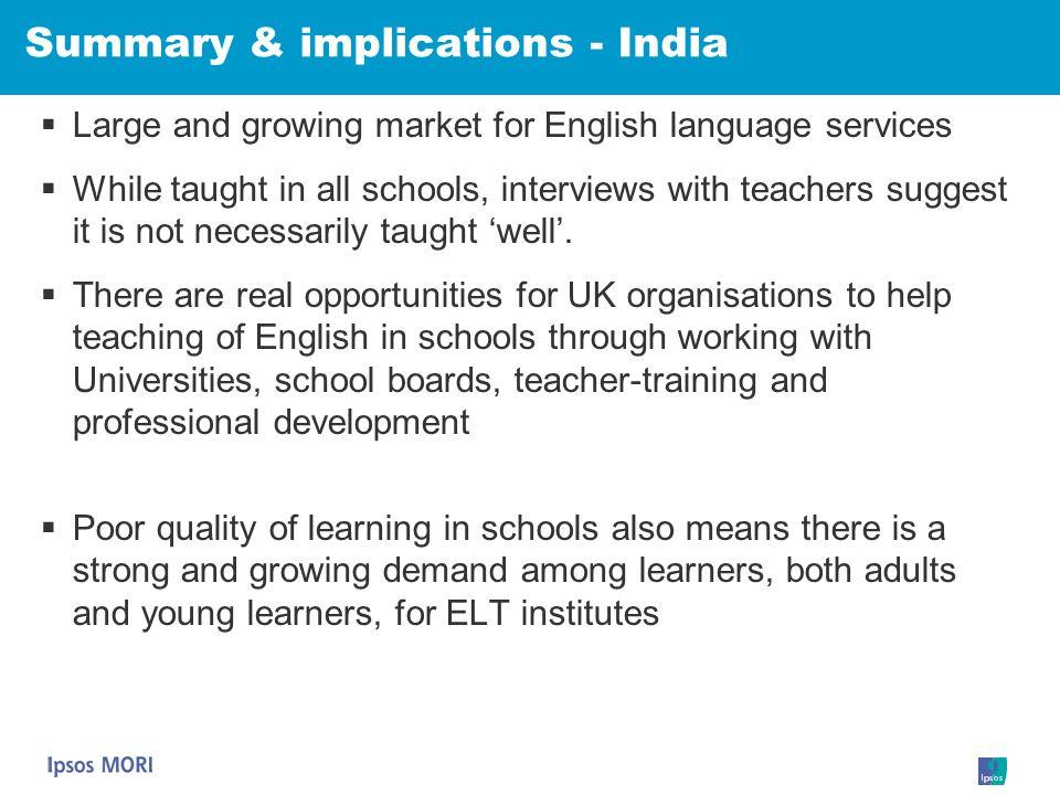 Summary & implications - India