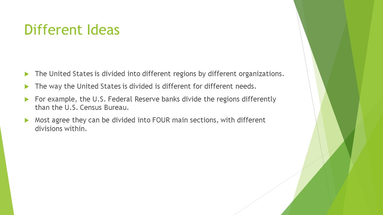 Regions Of The United States Ppt Download - Us map divided into 12 regions
