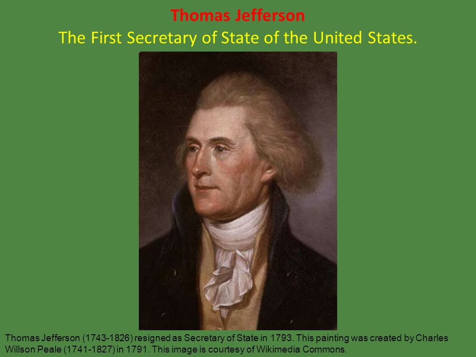 Leq what were the first two political parties in the united states ppt download - Thomas jefferson term of office ...
