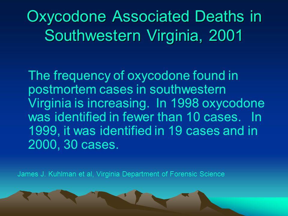 Oxycodone Associated Deaths in Southwestern Virginia, 2001