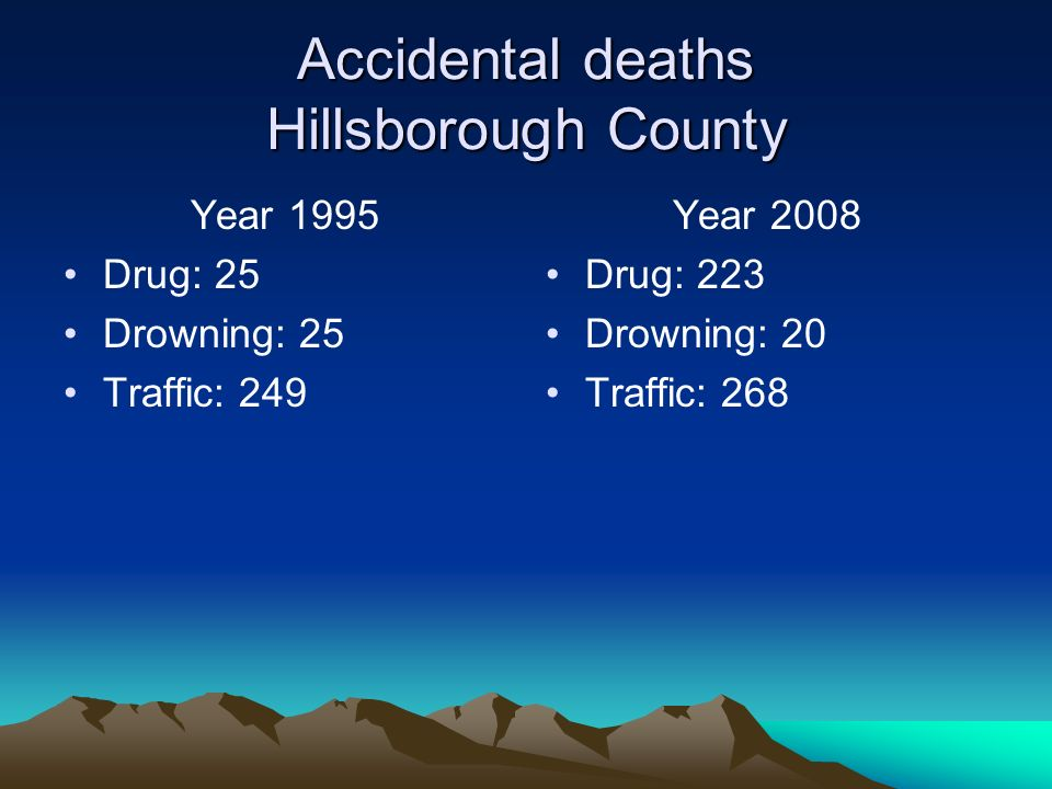 Accidental deaths Hillsborough County