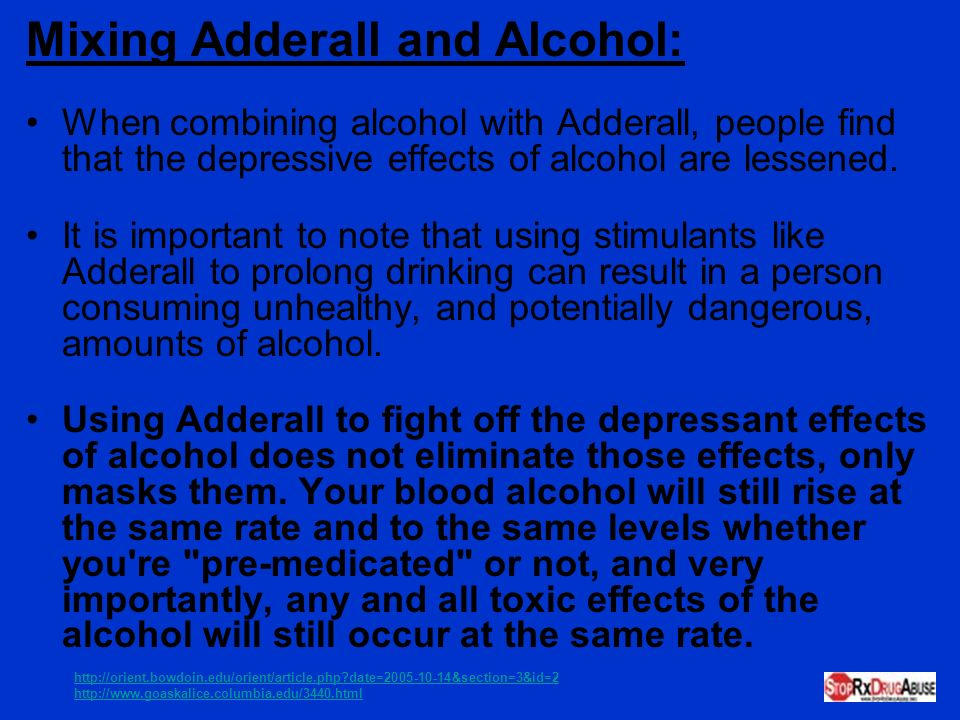 Mixing Adderall and Alcohol: