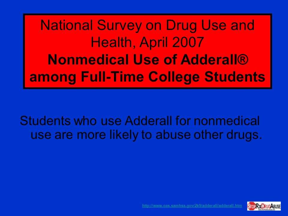 Nonmedical Use of Adderall® among Full-Time College Students