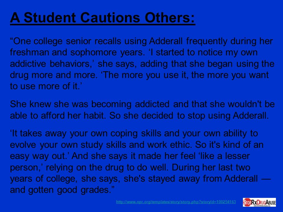 A Student Cautions Others: