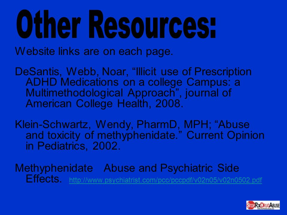 Other Resources: Website links are on each page.