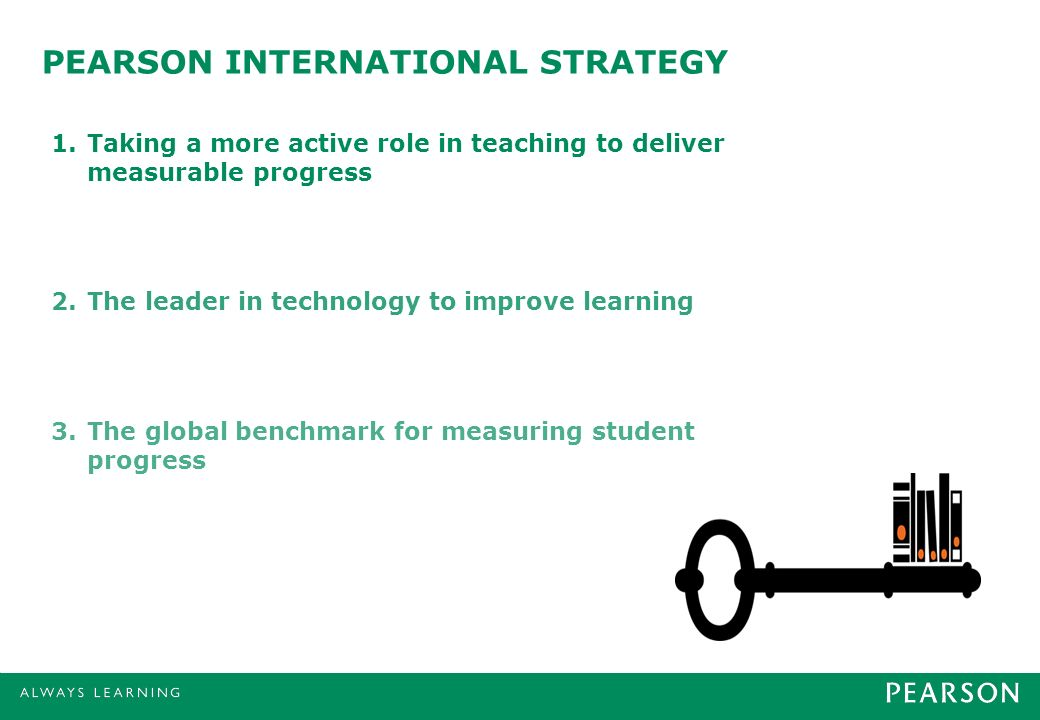 PEARSON INTERNATIONAL STRATEGY