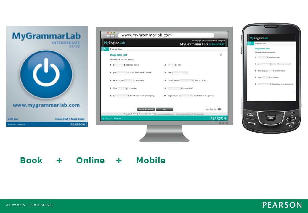 MyGrammarLab is absolutely unique, with its blend of book, online and mobile resources.